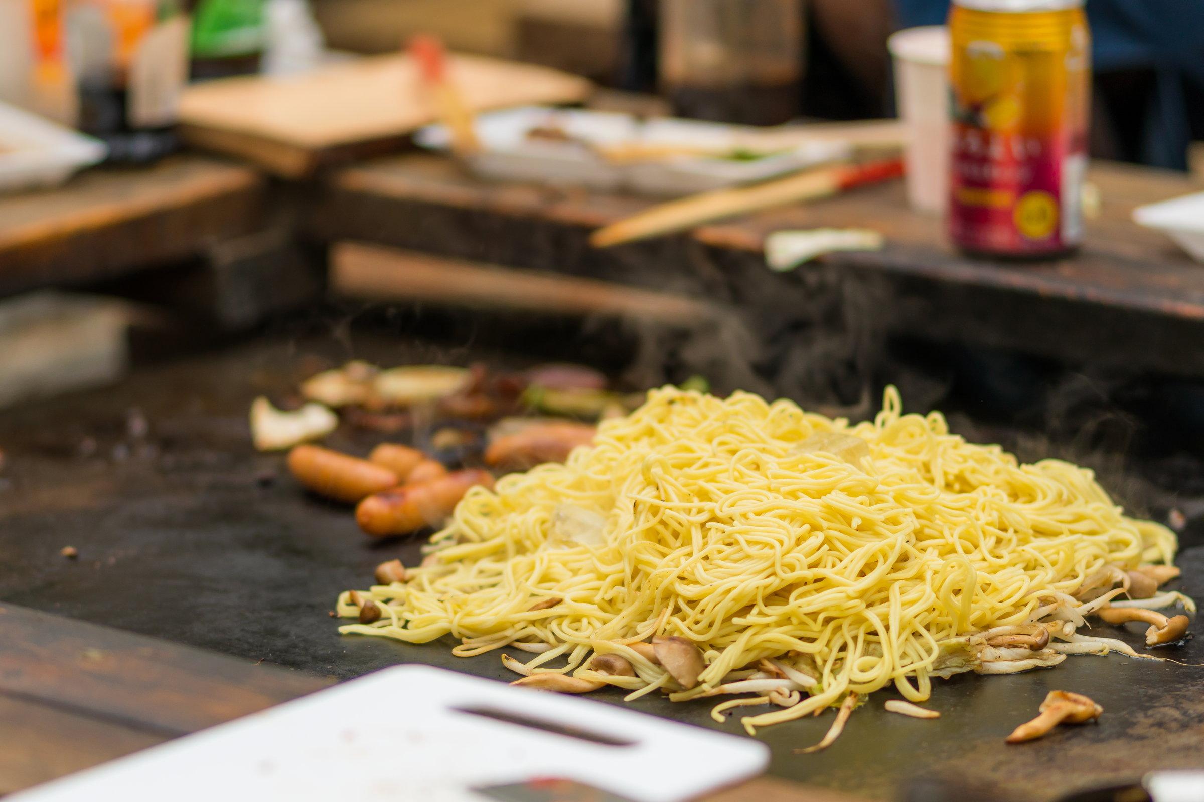 食材付きプランの焼きそば(写真は3食分)